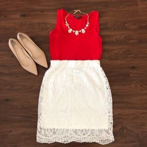 High Waisted Lace Skirt💕